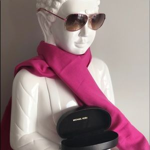 Michael Kors Pink Aviator Sunglasses
